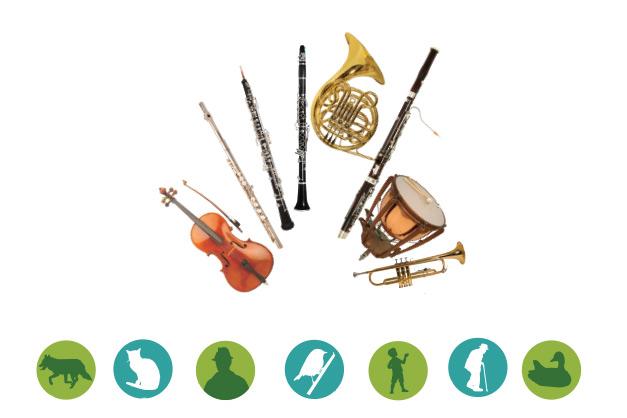 Relaciona cada instrument amb el seu personatge